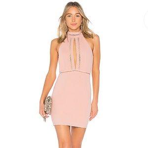 By The Way Emma keyhole bodycon in blush dress xs